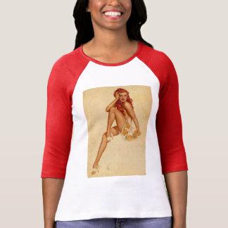 Pin retro del Redhead de Alberto Vargas del vintag Camisetas