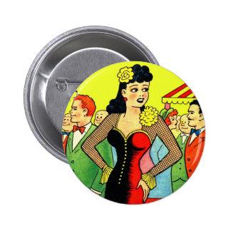 Pin retro del vintage del kitsch para arriba que b
