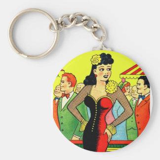 Pin retro del vintage del kitsch para arriba que b llavero redondo tipo pin