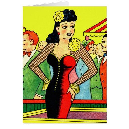 Pin retro del vintage del kitsch para arriba que b tarjeta de felicitación