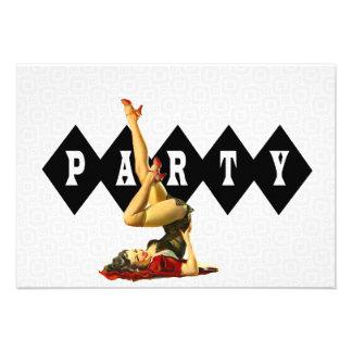 Pin retro encima de la fiesta de cumpleaños del ch invitacion personal