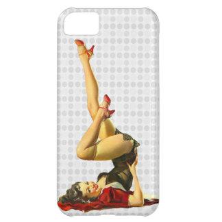 Pin retro encima del chica carcasa iPhone 5C