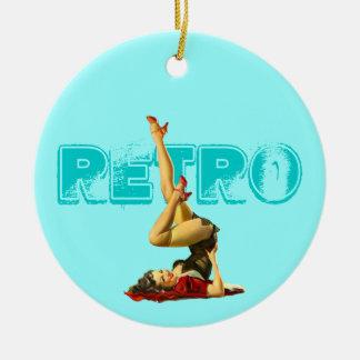 Pin retro encima del ornamento pendiente adornos de navidad
