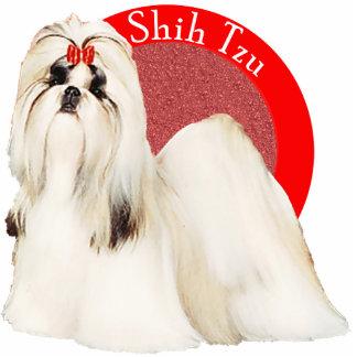 Pin rojo de la foto de Shih Tzu Pin Fotoescultura