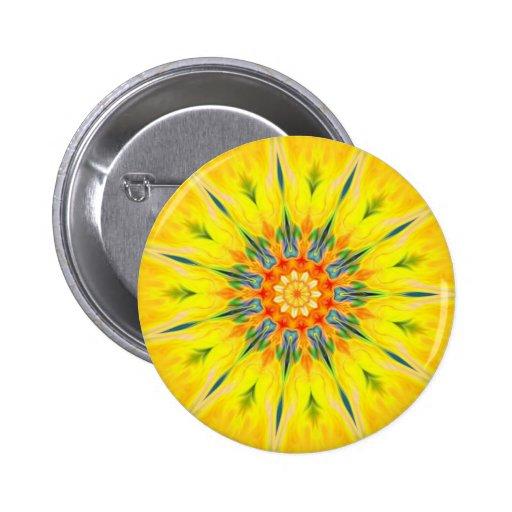 Pin rojo del botón de la mandala de la estrella de