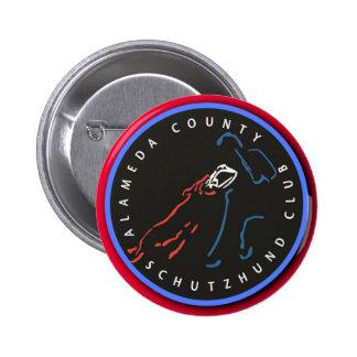 Pin rojo del botón del borde de ACSC
