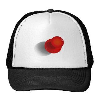 Pin rojo del empuje gorra