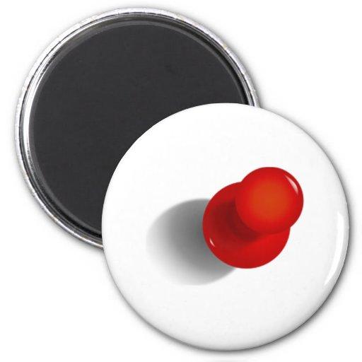 Pin rojo del empuje imán redondo 5 cm