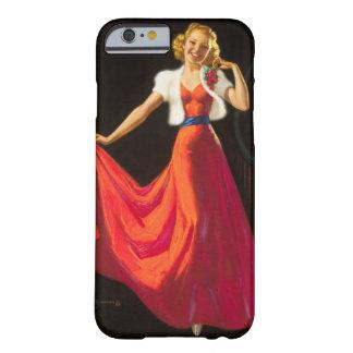 Pin rojo del vestido encima del arte funda para iPhone 6 barely there