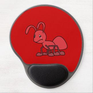 Pin rojo gritador triste del imán de la almohada alfombrillas de ratón con gel