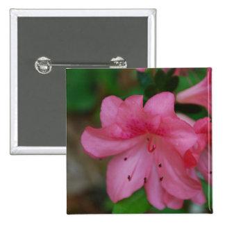 Pin rosado de la azalea pin cuadrada 5 cm