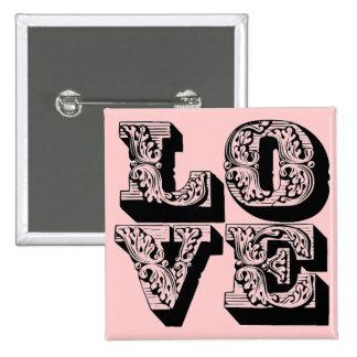 Pin rosado de lujo del amor