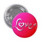 Pin rosado del amor de la mezcla pin redondo 2,5 cm