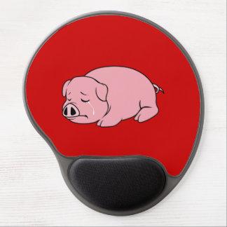 Pin rosado gritador de la almohada de la taza de alfombrillas de raton con gel