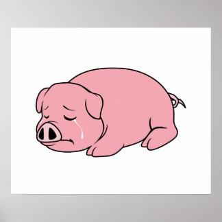 Pin rosado gritador de la almohada de la taza de poster