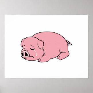 Pin rosado gritador de la almohada de la taza de posters