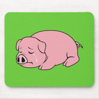 Pin rosado gritador de la almohada de la taza de alfombrillas de raton