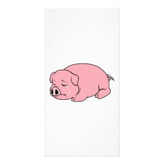 Pin rosado gritador de la almohada de la taza de tarjetas con fotos personalizadas