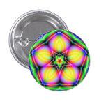 Pin sagrado del botón del fractal de la mandala de
