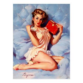 Pin secreto de Gil Elvgren del diario del vintage Postales