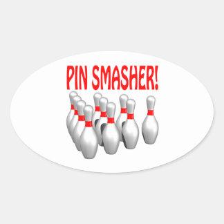 Pin Smasher Oval Sticker