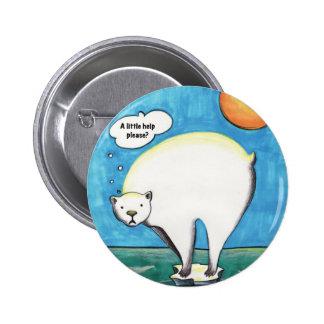 Pin solo del oso polar pin redondo 5 cm