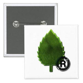 Pin sostenible del cuadrado del ambiente