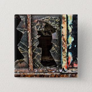 Pin - Square -  'Broken Window' by Joanne Coyle