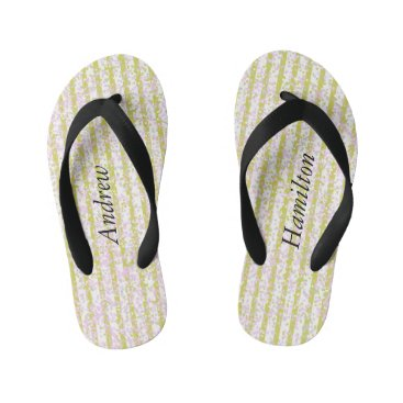 Pin Stripe Confetti Flip Flops with your Name