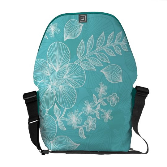Pin Stripe Flowers Courier Bag