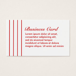 Pin Stripe Red + Custom Color Business Card