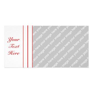 Pin Stripe Red + Custom Color Card