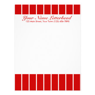 Pin Stripe Red + Custom Color Letterhead