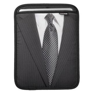 Pin-stripe Suit & Tie iPad Sleeve