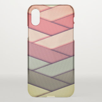 Pin Striped Ribbon Pattern iPhone X Case