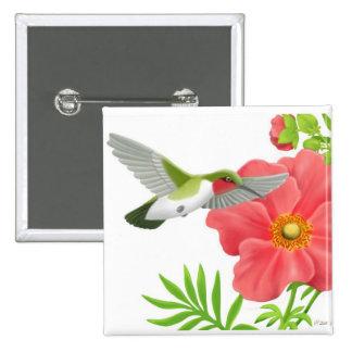 Pin Throated de rubíes del colibrí