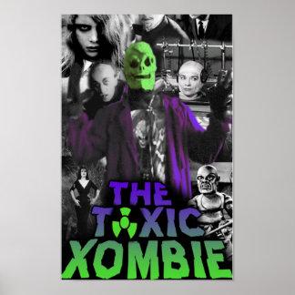 Pin tóxico del collage de Xombie para arriba Póster