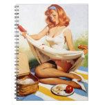 Pin travieso de la comida campestre del vintage pa libros de apuntes con espiral