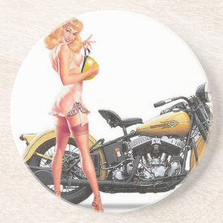 Pin travieso de Sexie del vintage encima del chica Posavasos Manualidades
