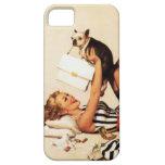 Pin travieso del amor adolescente del vintage enci iPhone 5 cobertura