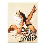 Pin travieso del amor adolescente del vintage enci impresiones en lienzo estiradas