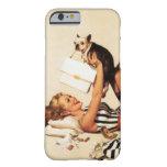 Pin travieso del amor adolescente del vintage funda de iPhone 6 slim