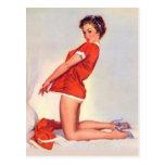 Pin travieso del navidad del vintage encima del ch postales