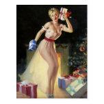 Pin travieso del navidad encima del chica postal