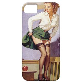 Pin travieso del profesor del vintage encima del c iPhone 5 Case-Mate coberturas