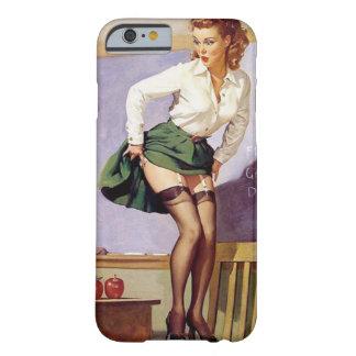 Pin travieso del profesor del vintage encima del funda barely there iPhone 6