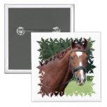 Pin trenzado del cuadrado de la melena del caballo