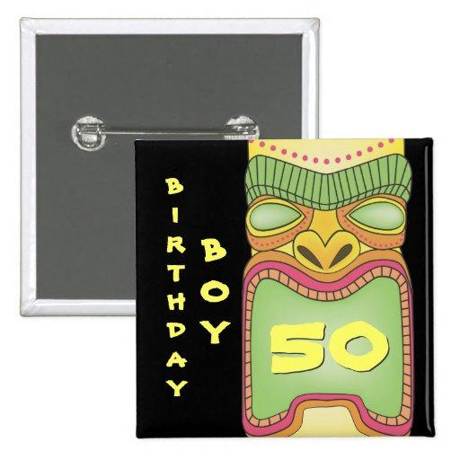 Pin tropical hawaiano de la insignia del cumpleaño