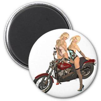Pin-up biker girls magnet