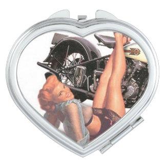 Pin Up Biker Mirror